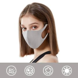 Reusable Washable Face Covering  - Grey