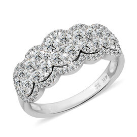 NY Close Out Deal 1.25 Carat Diamond Eternity Ring in 14K White Gold 4.1 Grams I1-I2 GH