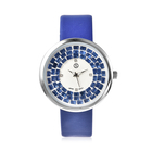 STRADA Japanese Movement White Austrian Crystal and Simulated Tanzanite Studded Water Resistant Watc