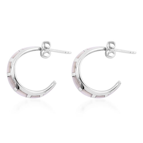Royal Bali Collection - Mother of Pearl Earrings in Sterling Silver