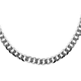 Sterling Silver Super Flat Grumetta Chain (Size 28), Silver wt 65.71 Gms