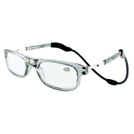 Loopies Magnetic Photochromic Transparent Grey Reading Glasses +1.50