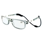 Loopies Magnetic Photochromic Transparent Grey Reading Glasses +2.0
