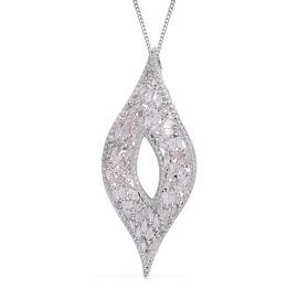Limited Available - Diamond (Bgt) Pendant with Chain in Platinum Overlay Sterling Silver 0.500 Ct.