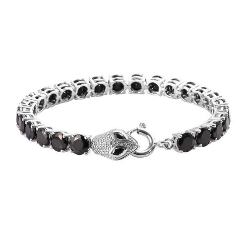 13 Carat Diamond and Multi Gemstone Snake Tennis Bracelet in Platinum Plated Sterling Silver 7 Inch
