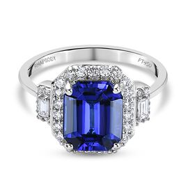 Find of The Month- RHAPSODY 950 Platinum AAAA Tanzanite and Diamond (VS/E-F)  Ring 4.08 Ct, Platinum
