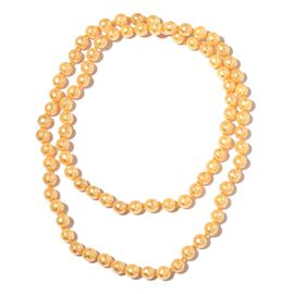 Golden Shell Faceted Pearl Necklace (Size 30)