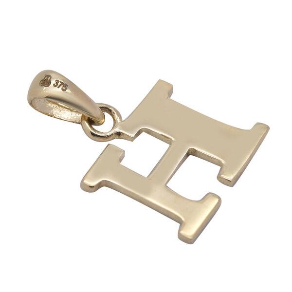 9K Yellow Gold Initial H Pendant