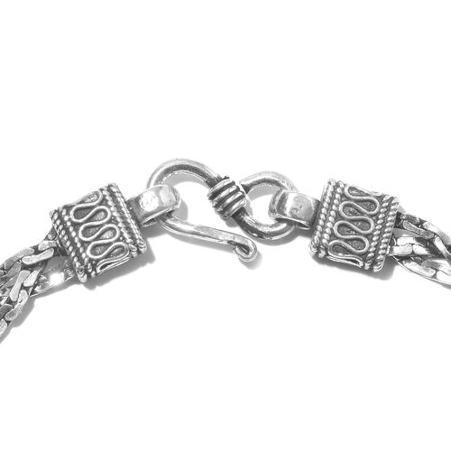 Designer Inspired- Vicenza  Collection Sterling Silver Floral Bracelet (Size 7.5), Silver wt. 15.01 Gms.
