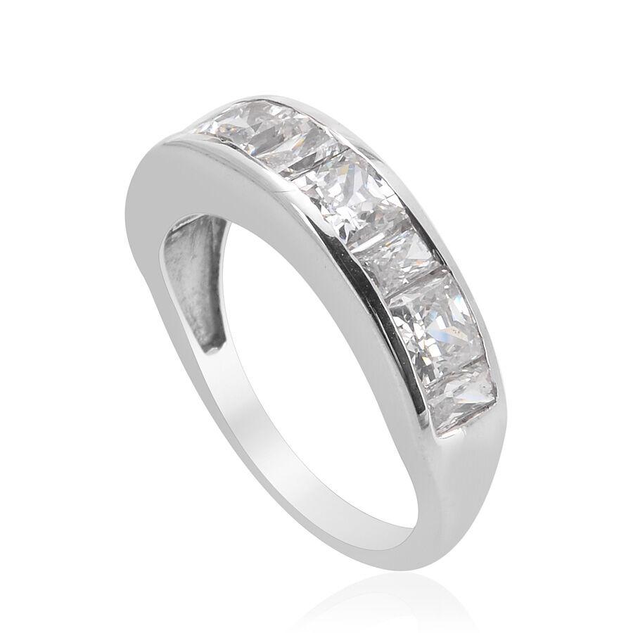 [Sponsored]TJC Platinum Over Silver Half Eternity Band Ring Made With Swarovski® Zirconia To2kI92cxO