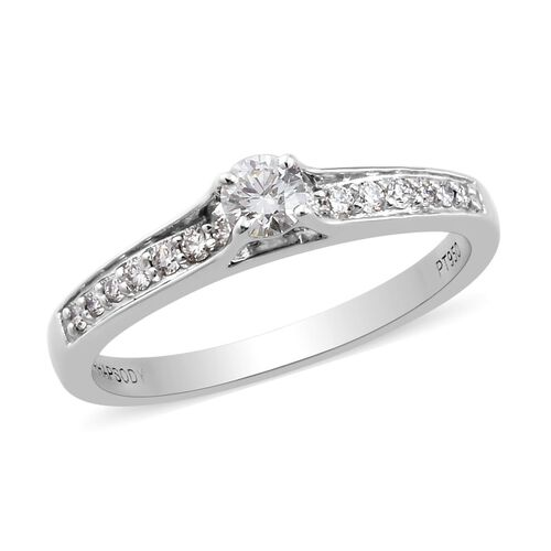RHAPSODY 950 Platinum Certified Diamond (VS/E-F) Ring 0.33 Ct.