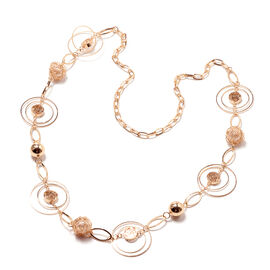 Simulated Pearl Necklace (Size 40) in Gold Tone