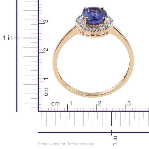 14K Yellow Gold Tanzanite (Ovl 2.00 Ct), Diamond Ring 2.250 Ct.
