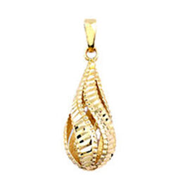 Italian Made 9K Yellow Gold Drop Pendant