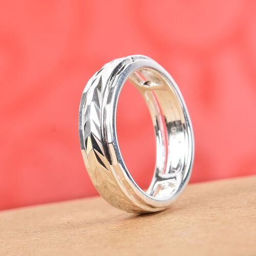 One Time Deal- Sterling Silver Spinner Ring, Silver wt 3.00 Gms.