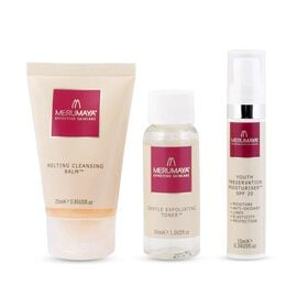 MeruMaya: Skincare Starter Set (Incl. Melting Cleansing Balm - 25ml, Gentle Exfoliating Toner - 30ml