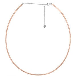 Diamond Cut Adjustable Chain Necklace in Rose Gold Plated Sterling Silver 16 with 4 inch Extender