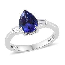 WEBEX- Rhapsody AAAA Tanzanite (1.65 Ct) and Diamond 950 Platinum Ring  2.000  Ct.