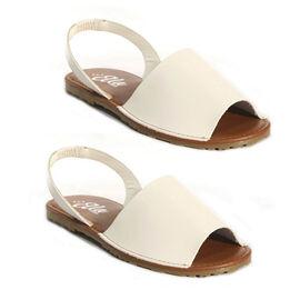 OLLY Palma Mule Sandal in White Colour