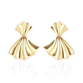 RACHEL GALLEY - Yellow Gold Overlay Sterling Silver Ginkgo Leaf Stud Earrings (with Push Back)