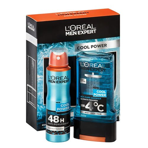 LOreal Cool Power (Includes Cool Power Shower Gel 300ml and Cool Power Anti-Perspirant 150ml)