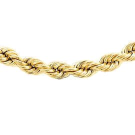 9K Yellow Gold Rope Chain (Size 22), Gold wt 13.10 Gms