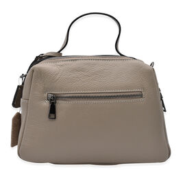 Sencillez 100% Genuine Leather Convertible Bag in Taupe