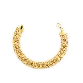 Close Out Deal 9K Yellow Gold Fancy Byzantine Bracelet (Size 7.5), Gold wt 8.50 Gms