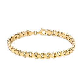 One Time Close Out- 9K Yellow Gold Chevron Bracelet (Size 7.5), Gold wt 5.50 Gms.