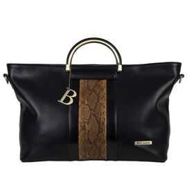 Bulaggi Collection- Fleur Handbag (Size 34x24x12 Cm) - Black