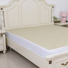 Copper Infused Bamboo Terry Waterproof Fitted Mattress Protector King Size (150x200)