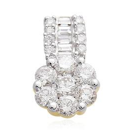 ILIANA 18K Yellow Gold IGI Certified (SI/G-H) Diamond (Rnd) Pendant 0.500 Ct.