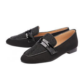 Ravel Black & Diamante Luis Loafers