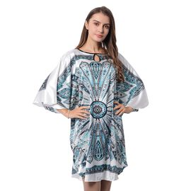 White and Multi Colour Floral Pattern Apparel (Free Size)