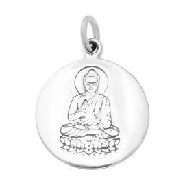 Thai Sterling Silver Meditating Buddha on Lotus Pendant