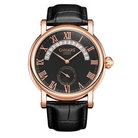 GAMAGES OF LONDON Limited Edition Hand Assembled Split Date Automatic Rose