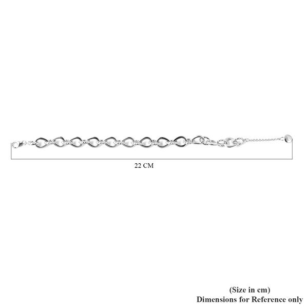 RACHEL GALLEY Rhodium Overlay Sterling Silver Bracelet (Size 7/ 7.5/ 8), Silver wt. 15.60 Gms