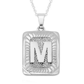 Initial M Pendant with Chain (Size 22) in Stainless Steel