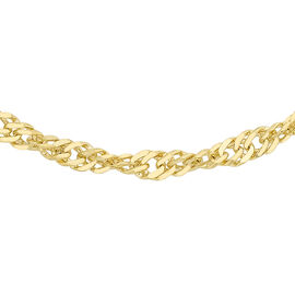 9K Yellow Gold Twisted Curb Chain (Size 24), Gold wt 4.55 Gms