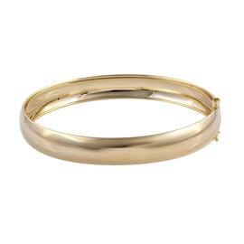 Royal Bali Collection - 9K Yellow Gold Plain Bangle (Size 7.25), Gold wt 7.82 Gms