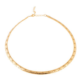 Yellow Gold Plated Stainless Steel Collar Necklace (Size 18 and 2 inch Extender)