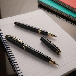 Set of 2 - One Ball Pen & 1 Roller Pen - Black & Gold