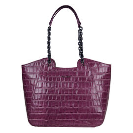 Bulaggi Collection Croc Shopper Bag on Fuchsia