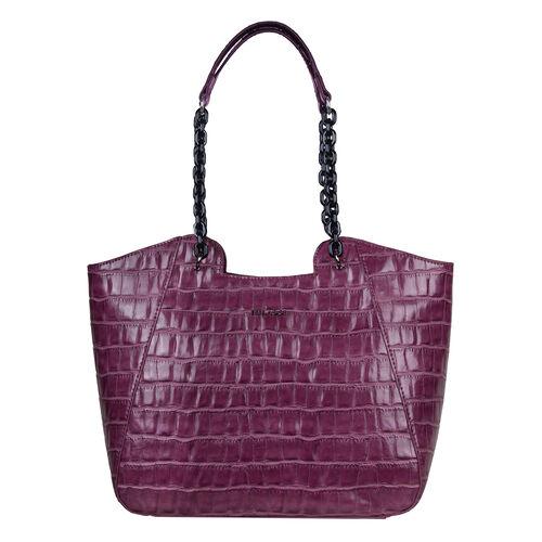 Bulaggi Collection Croc Shopper Bag on Fuchsia