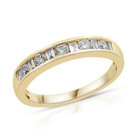 ILIANA 0.50 Carat Diamond Band Ring in 18K Gold 2.89 Grams IGI Certified SI GH