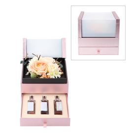 The 5th Season 2 Layer Flower Box With 3 Bottles Of Fragrance Spray - Orange
