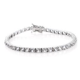 Designer Close Out Deal- Petalite (Rnd) Bracelet (Size 8.25) in Rhodium Plated Sterling Silver 9.72