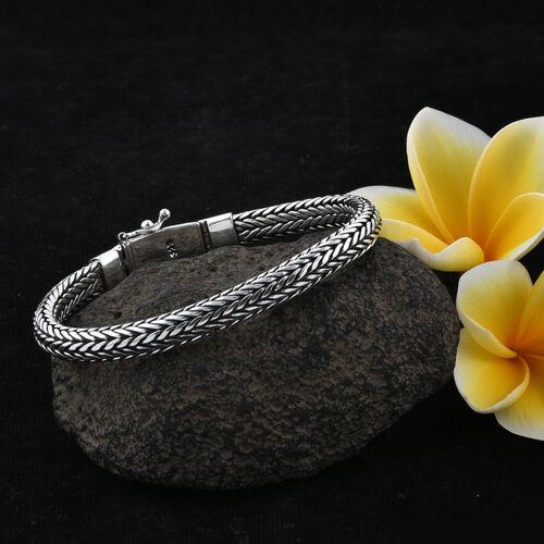 Royal Bali Collection Sterling Silver Tulang Naga Bracelet (Size 8), Silver wt 48.60 Gms.