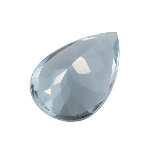 AAA Aquamarine Pear 12x8 Faceted 2.44 Cts