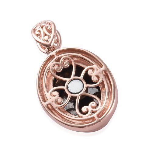 Elite Shungite Magnetic Pendant in Rose Gold Tone 1.70 Ct.